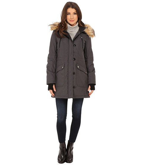 Imbracaminte Femei Jessica Simpson Polybonded with Faux Fur Steel