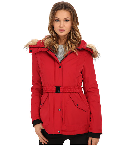Imbracaminte Femei Jessica Simpson Belted Polybonded with Faux Fur Red