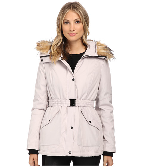 Imbracaminte Femei Jessica Simpson Belted Polybonded with Faux Fur Silver