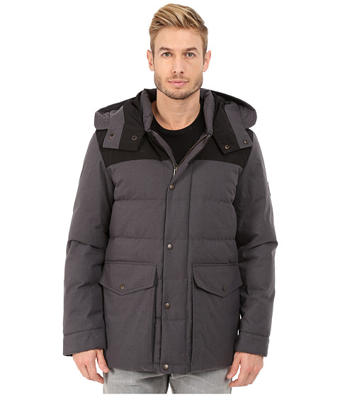 Imbracaminte Barbati Cole Haan Brushed Flannel Parka Charcoal