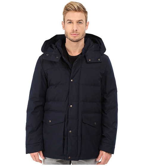 Imbracaminte Barbati Cole Haan Brushed Flannel Parka Navy Ink