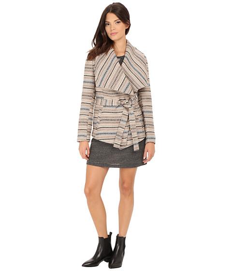 Imbracaminte Femei BB Dakota Nivea Stripe Jacquard Belted Jacket Dark Khaki