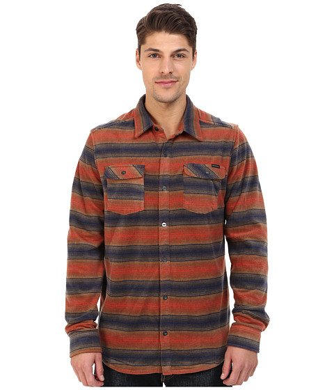 Imbracaminte Barbati O'Neill Glacier Stripe Woven Top Rust Brown