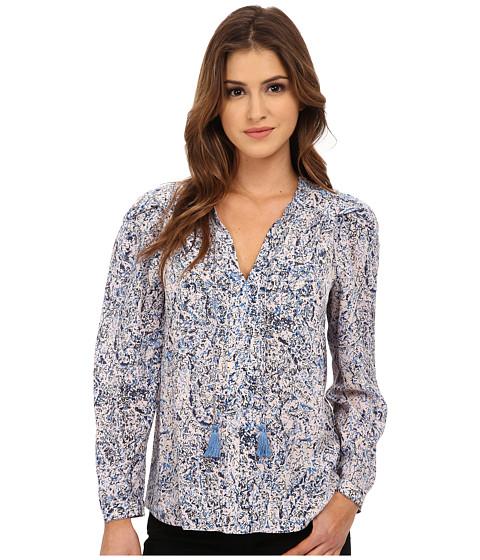 Imbracaminte Femei Rebecca Taylor Long Sleeve Block Print Paisley Top BluePink