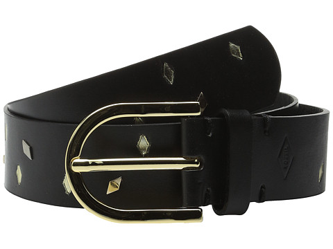 Accesorii Femei Fossil Scattered Diamonds Belt Black