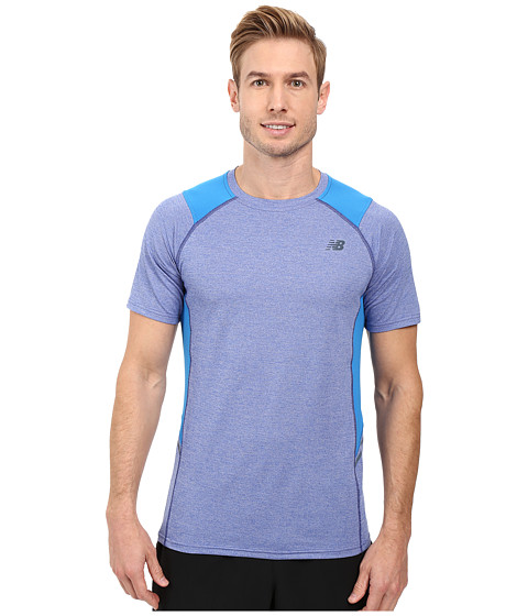 Imbracaminte Barbati New Balance Short Sleeve Novelty Performance Tee Electric Blue
