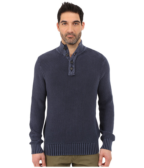 Imbracaminte Barbati Lucky Brand Washed Out Mock Neck Blue