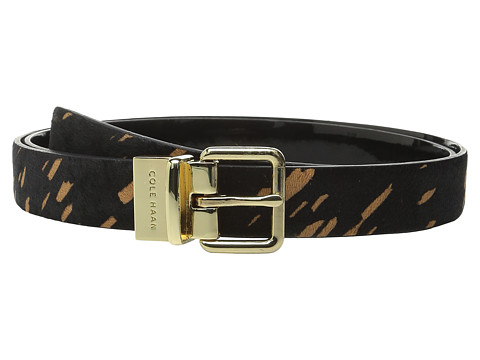 Accesorii Femei Cole Haan 25mm Reversible Printed Haircalf to Patent Belt Black SplatterBlack