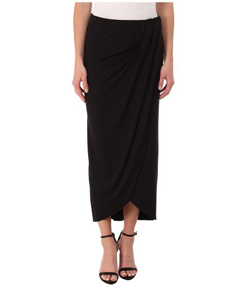 Imbracaminte Femei Three Dots Pleated Drape Maxi Skirt Black