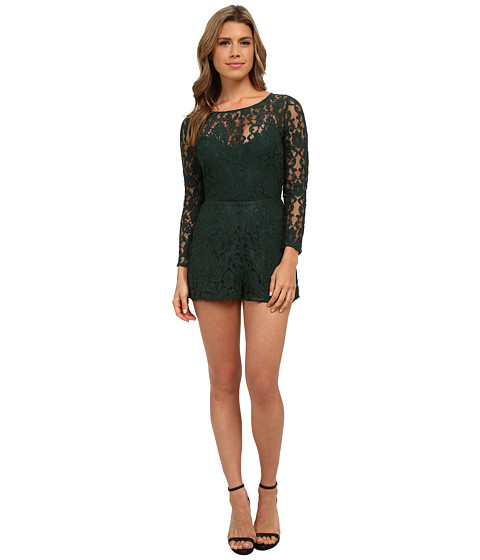 Imbracaminte Femei BB Dakota Dasha Long Sleeve Lace Romper Hunter