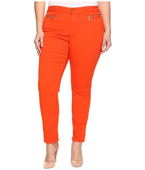 Imbracaminte Femei Michael Kors Plus Size Skinny Jeans w Zip Mandarin