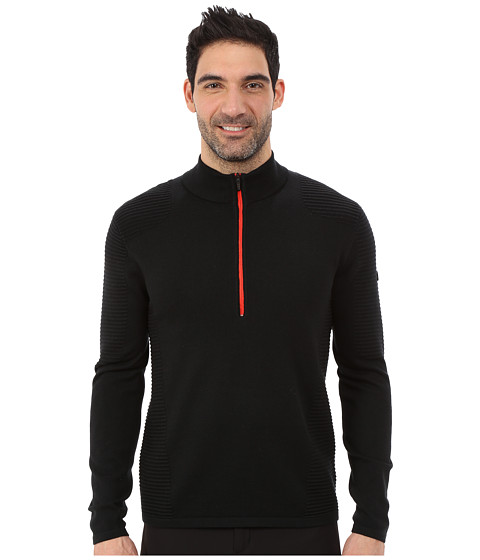 Imbracaminte Barbati Spyder Drayke Half Zip Sweater BlackVolcano