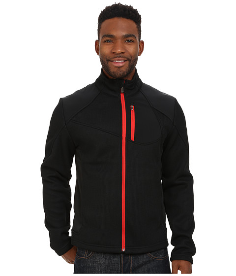 Imbracaminte Barbati Spyder Linear Full Zip Mid Weight Core Sweater BlackVolcano