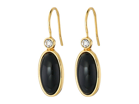 Bijuterii Femei LAUREN Ralph Lauren Modern Landscape Oval Stone Drop Earrings BlackCrystalGold