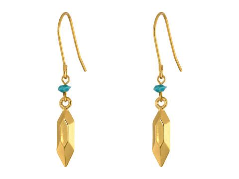 Bijuterii Femei LAUREN Ralph Lauren Golden Opulence Small Metal Nugget Drop Earrings GoldTurquoise