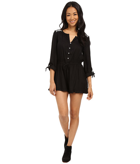 Imbracaminte Femei Roxy Midnight Edge Solid Romper True Black