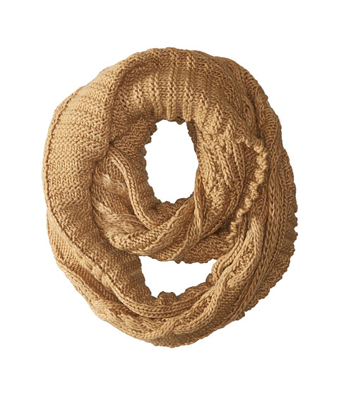 Accesorii Femei Michael Kors Hand Knit Large Infinity Scarf Dark Camel