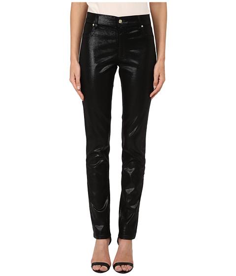 Imbracaminte Femei Versace Shiny Skinny Pants Nero
