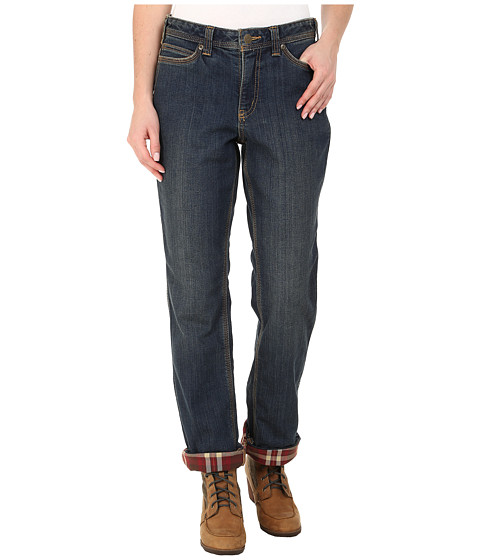 Imbracaminte Femei Carhartt Relaxed Fit Denim Flannel-Lined Jeans Authentic Indigo