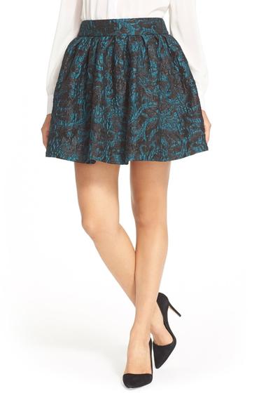 Imbracaminte Femei Alice Olivia Stora Pleated Pouf Skirt TEAL- BLACK