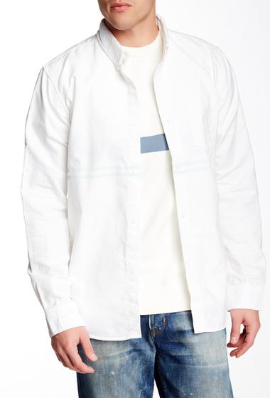 Imbracaminte Barbati MNii SanO Dual Stripe Long Sleeve Regular Fit Oxford Shirt WHITE