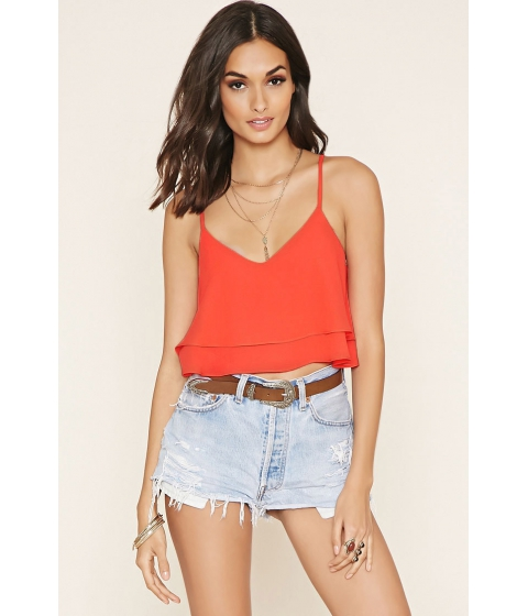 Imbracaminte Femei Forever21 Layer Cropped Cami Coral