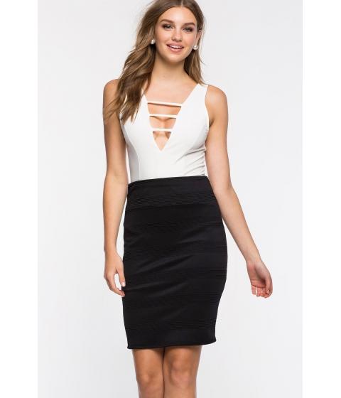Imbracaminte Femei CheapChic Textured Pencil Skirt Black