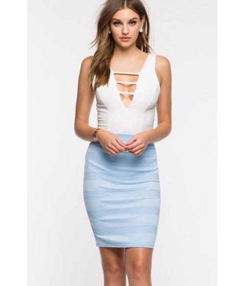 Imbracaminte Femei CheapChic Textured Pencil Skirt Pst Blue