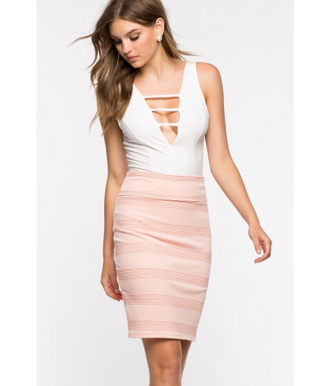 Imbracaminte Femei CheapChic Textured Pencil Skirt Blush