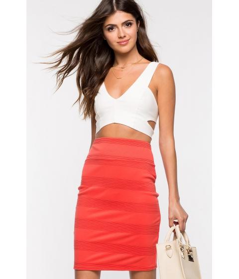 Imbracaminte Femei CheapChic Textured Pencil Skirt Coral