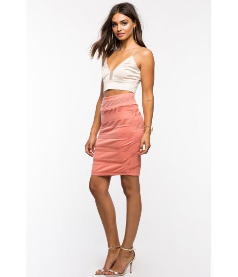 Imbracaminte Femei CheapChic Textured Pencil Skirt Mauve