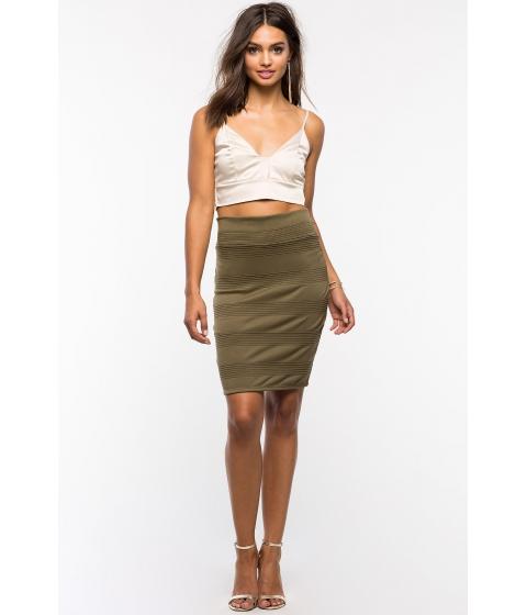 Imbracaminte Femei CheapChic Textured Pencil Skirt Olive