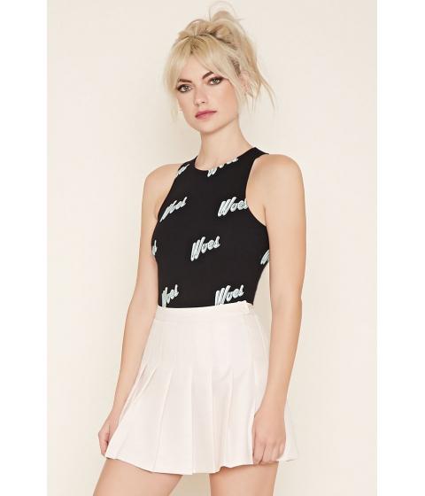 Imbracaminte Femei Forever21 Woes Graphic Bodysuit Blackmint