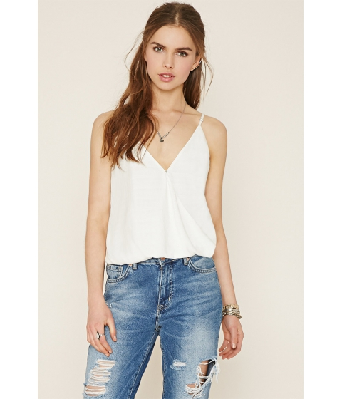 Imbracaminte Femei Forever21 Tonal-Patterned Surplice Cami White