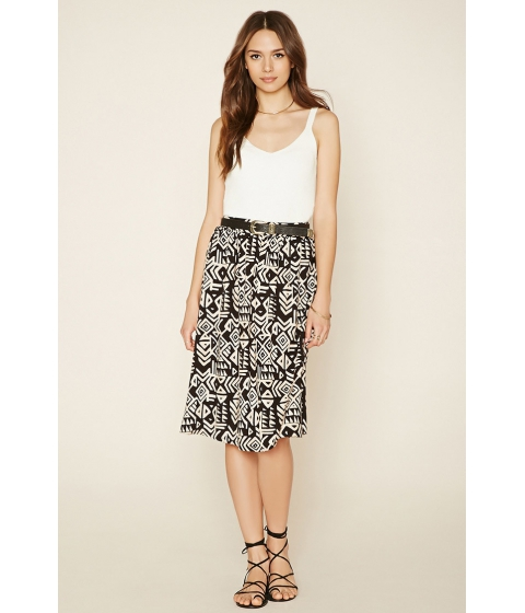 Imbracaminte Femei Forever21 Contemporary Abstract Skirt Blackpeach