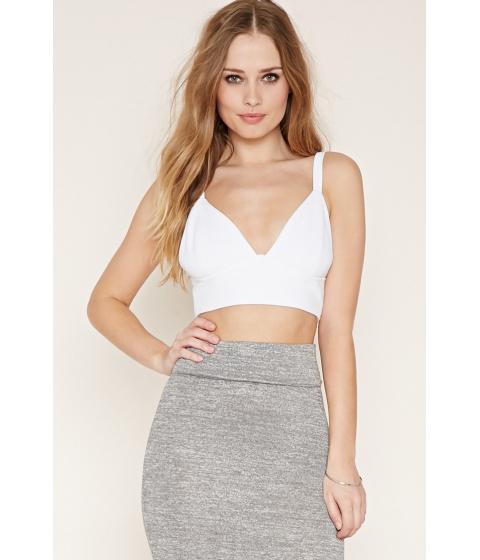 Imbracaminte Femei Forever21 Textured Crop Top White