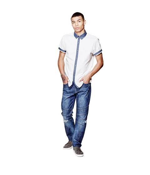 Imbracaminte Barbati GUESS Judkins Short-Sleeve Printed Shirt true white