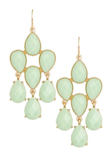Bijuterii Femei Natasha Accessories Teardrop Chandelier Dangle Earrings MINT