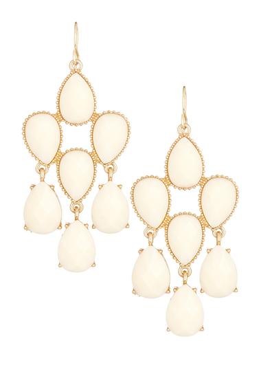 Bijuterii Femei Natasha Accessories Teardrop Chandelier Dangle Earrings IVORY