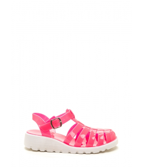 Incaltaminte Femei CheapChic Stay Cool Jelly Sandals Hotpink