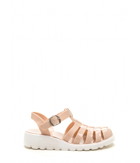 Incaltaminte Femei CheapChic Stay Cool Jelly Sandals Nude