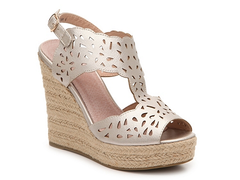 Incaltaminte Femei GC Shoes Celina Metallic Wedge Sandal Pewter Metallic