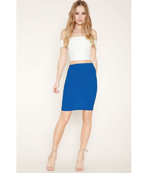 Imbracaminte Femei Forever21 Bodycon Pencil Skirt Imperial blue