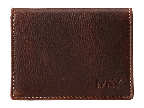 Genti Barbati Marc New York by Andrew Marc Rugged Wash Carry All Wallet Brown