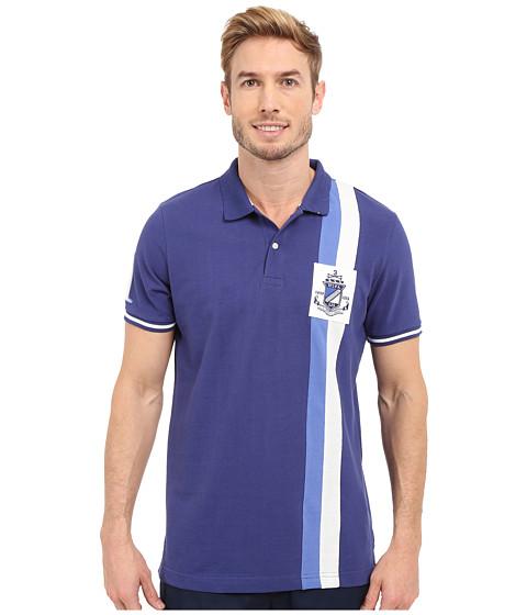 Imbracaminte Barbati US Polo Assn Vertical Stripe Logo Patch Pique Polo Shirt Marina Blue