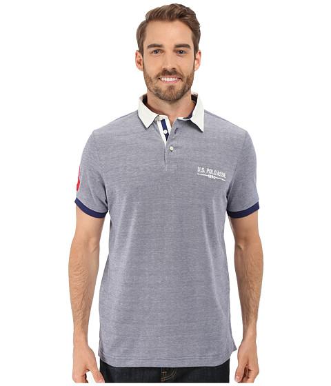 Imbracaminte Barbati US Polo Assn Solid Pique Polo Shirt w Contrast Collar Dodger Blue