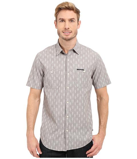 Imbracaminte Barbati US Polo Assn Short Sleeve Slim Fit Printed Canvas Shirt Industrial Grey