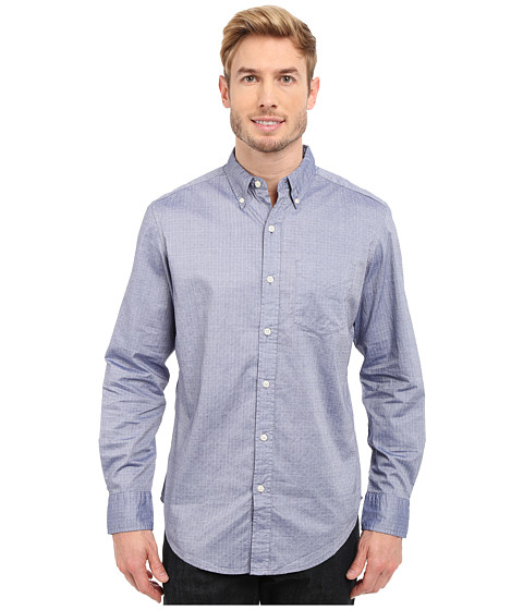 Imbracaminte Barbati US Polo Assn Dobby Print Long Sleeve Oxford Shirt Marina Blue