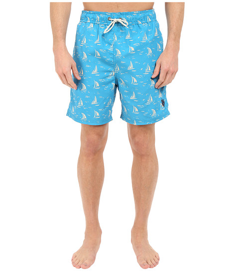 Imbracaminte Barbati US Polo Assn Sailboat Swim Shorts Surf Blue