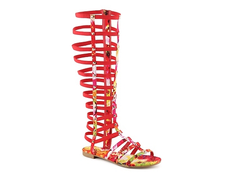 Incaltaminte Femei Bamboo Candice-52M Gladiator Sandal Red Multi